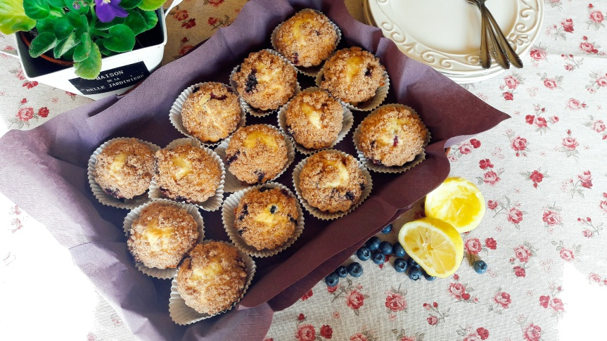 Muffini s borovnicama i limunom sa hrskavimposipom