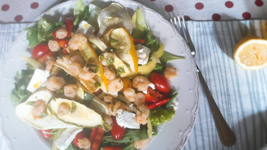 Salata s gamberima i tri vrstetikvica