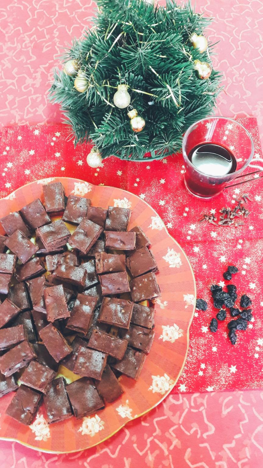 Božićni browniesi s kuhanimvinom