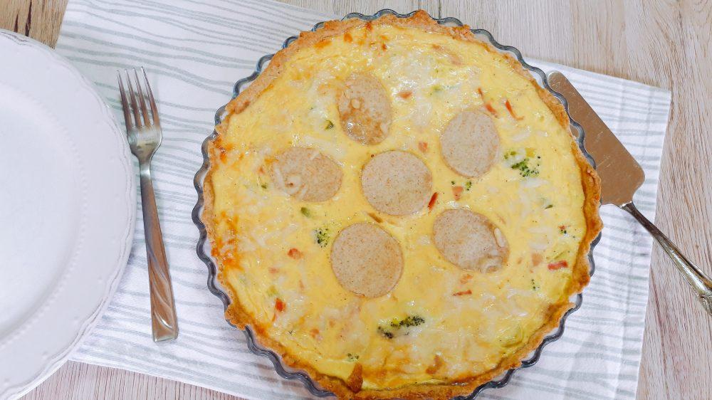 Quiche (slana pita) od brokule, poriluka i šunke