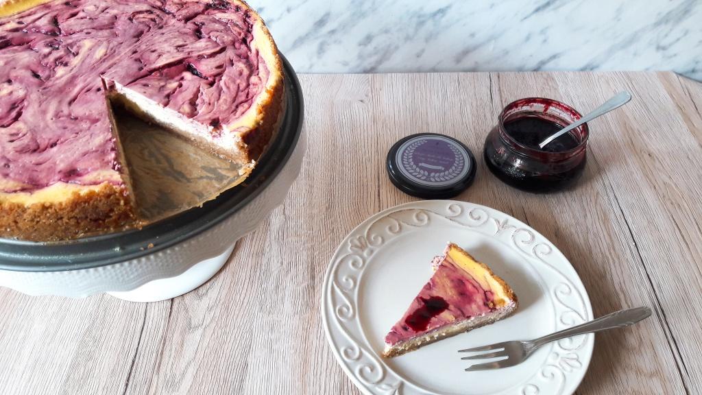 Cheesecake s džemom od haskapa