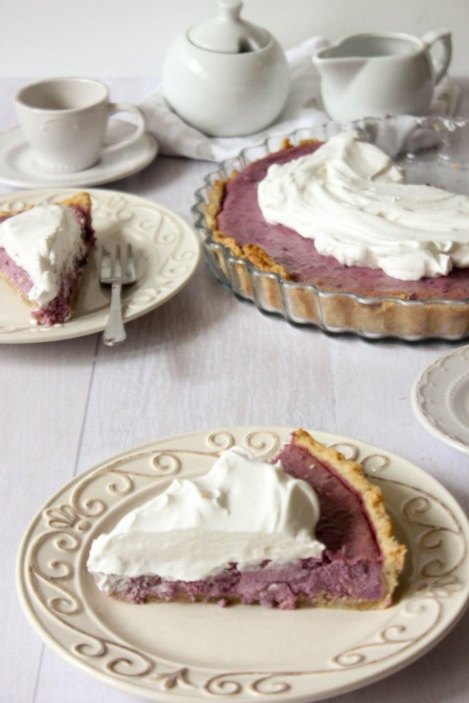 Ljubičasti cheesecake tart