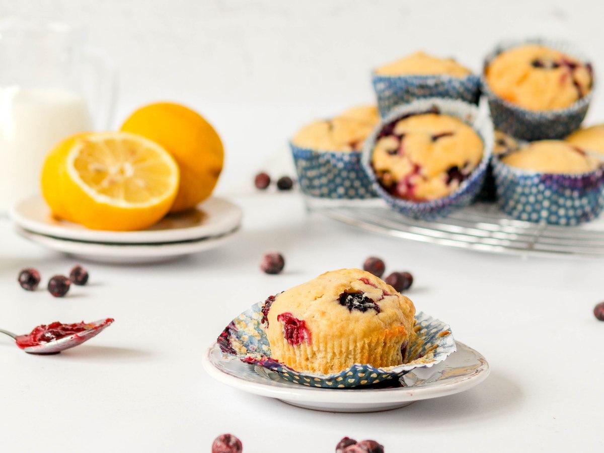 Muffini s borovnicama i limunom
